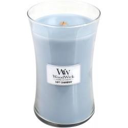 WoodWick Vonná svíčka Soft Chambray 609,5 g