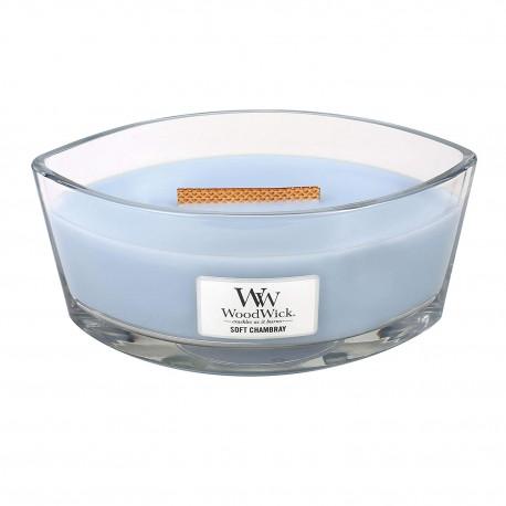 WoodWick Vonná svíčka Soft Chambray 453,6 g